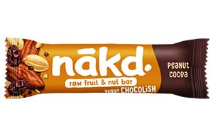Nakd Chocolish Big Bite - Peanut - 16x50g