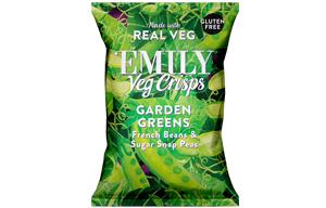 Emily Veg Crisps - Garden Greens - 12x23g
