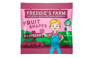 Freddies Farm - Fruit Shapes Raspberry - 16x20g