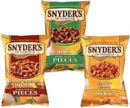 Snyders Pretzels - Mixed (10 Ea Flav) - 30x56g