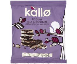 Kallo - Milk Chocolate Mini Rice Cakes - 12x40g