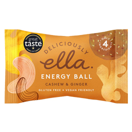 Deliciously Ella Energy Ball - Cashew & Ginger - 12x40g