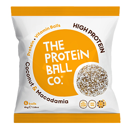 The Protein Ball Co - Coconut & Macadamia - Bags - 10x45g