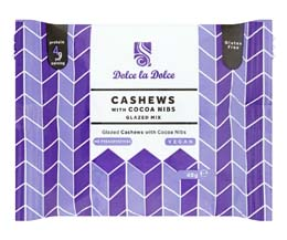 Dolce La Dolce - Glazed Cashews & Cocoa Nibs - 12x40g