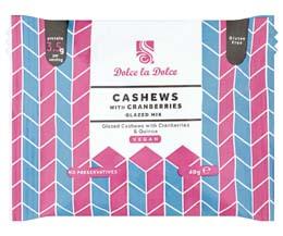 Dolce La Dolce - Cashews, Cranberries & Quinoa -12x40g