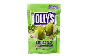 Olly's Olives - Garlic & Basil -12x50g