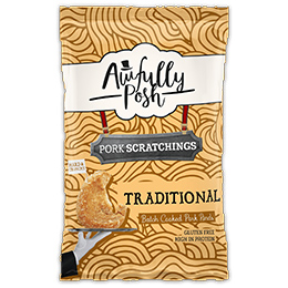 Awfully Posh - Traditional Pork Scratchings (F054) - 12x40g