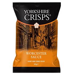 Yorkshire Crisp - Worcester Sauce - 24x40g