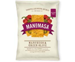 Manomasa Corn Chips - Manchego & Green Olive -16x40g