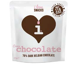 I Love Snacks - Belgian 70% Cocoa Chocolate - 15x22G