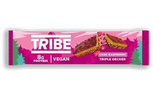 Tribe - Triple Decker Choc Raspberry Bar - 12x40g