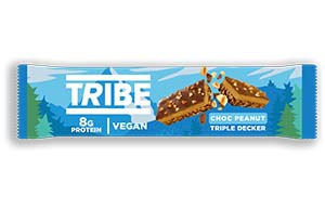 Tribe - Triple Decker Choc Peanut Butter Bar - 12x40g