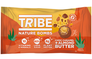 Tribe - Nature Bomb - Choc Caramel & Almond Butter -12x40g