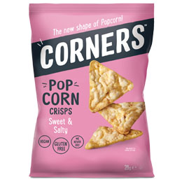 Corners Popcorn Crisps - Sweet & Salty - 18x28g