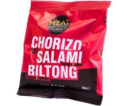 Meat Mezze - Chorizo Salami & Biltong - 12x39G