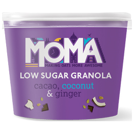 Moma Granola Pot - Cacao, Coconut & Ginger - 12x50g