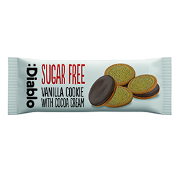 Diablo - Sugar Free Cocoa Cookie With Vanilla Cream - 48x44g