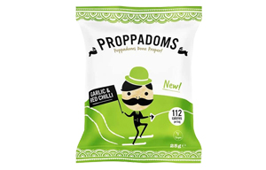 Proppadoms - Garlic & Red Chilli - 12x25g