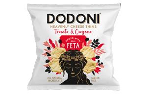 Dodoni Feta Tomato & Oregano Thins - 10x22g