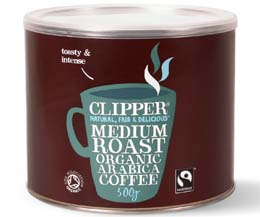 Clipper Coffee - F/T Organic Arabica Coffee - 1x500g Tub