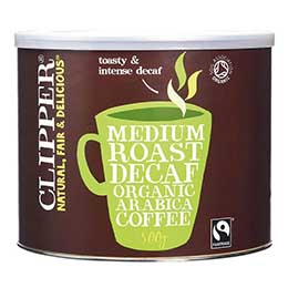Clipper Coffee - F/T Organic Decaf Arabica  - 1x500g Tub
