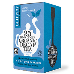 Clipper Enveloped - 25 - F/T Organic Decaff Everyday - 6x25 Es&T