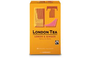 London Tea Enveloped - 20's - Zingy Lemon & Ginger - 6x20