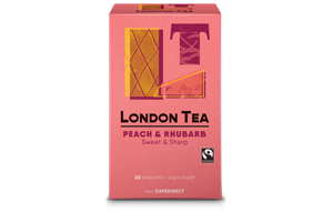 London Tea Enveloped - 20's - Peach & Rhubarb - 6x20