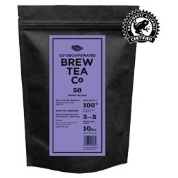 Brew Tea S&T - Co2 Decaffeinated Tea - 1x50 Black Bag