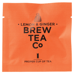 Brew Tea Enveloped - Lemon & Ginger - 1x100 Box