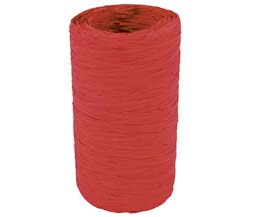 Raffia Roll - Red - 5Mm x 200M - Raf/Re